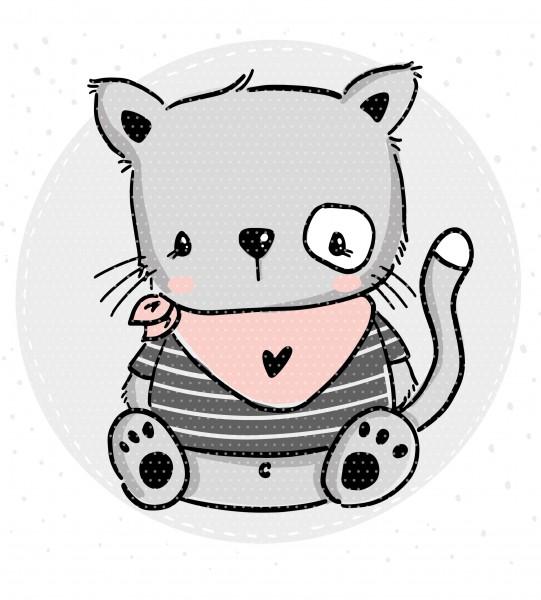 Stickdatei Kitty Cat