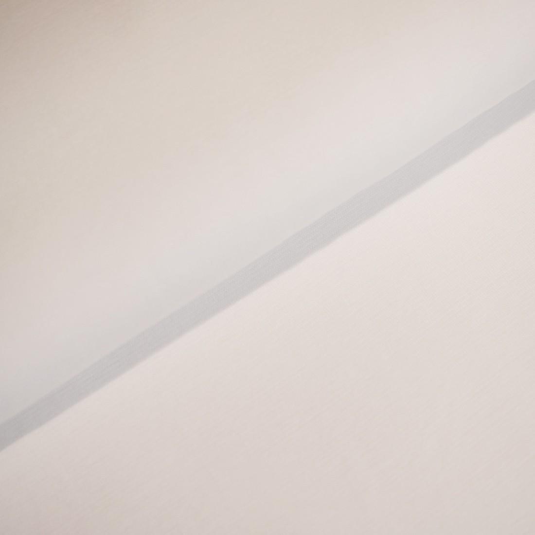 36 cm RESTSTÜCK-Bündchen - Weiß *Schlauchware*-