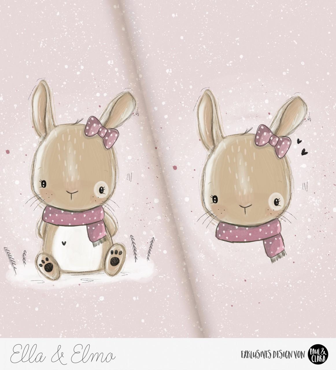 *VORBESTELLUNG* Ella & Elmo *Winter-Edition* - Panel Rosa *Bio-Sommersweat*