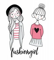 Applikationsvorlage Fashiongirls