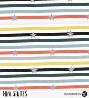 Mini Stripes meliert - Sterne Rainbow Gentleman Gelb/Schwarz/Blau *Bio-Jersey*