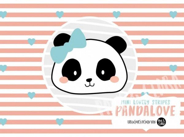 Eigenproduktion Pandalove - Mini Lovely Stripes Coral