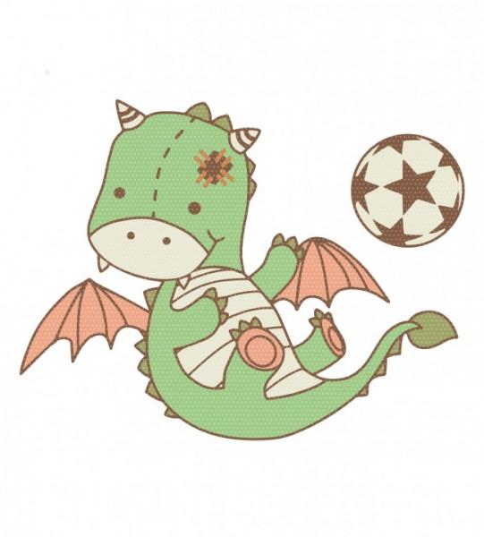 Stickdatei Knolli & Oerk Fußball