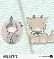 Paul & Pepe - Panel Mint-Beige *Bio-Jersey*