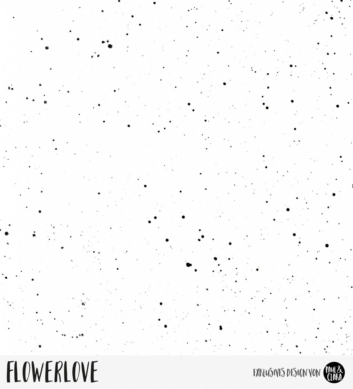 70 cm RESTSTÜCK-Flowerlove - Splash Weiß *Bio-Jersey*-