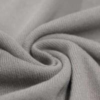 Feinstrick Strickstoff Baumwolle - Hellgrau