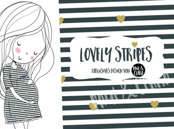 Eigenproduktion Lovely Stripes Anthrazit