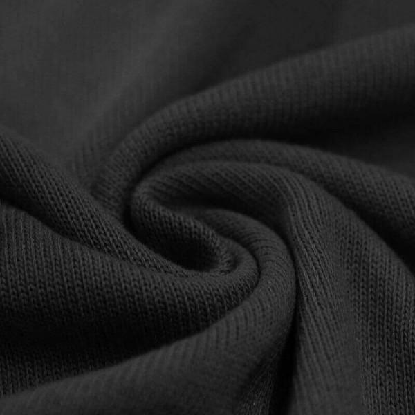 Feinstrick Strickstoff Baumwolle - Schwarz