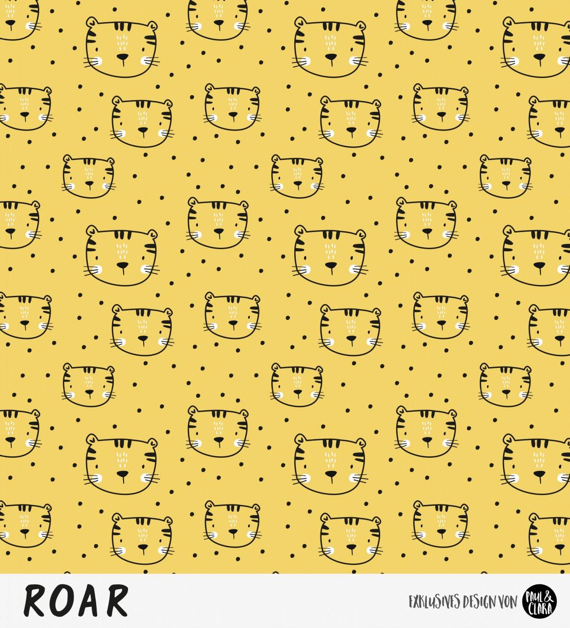 Eigenproduktion ROAR - Kombi Tigerkopf Gelb *Jersey*