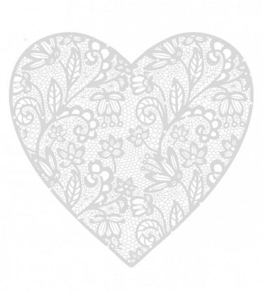 Plottervorlage Lace Heart