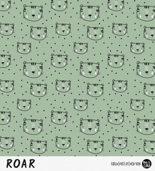 Eigenproduktion ROAR - Kombi Tigerkopf Olive *Jersey*