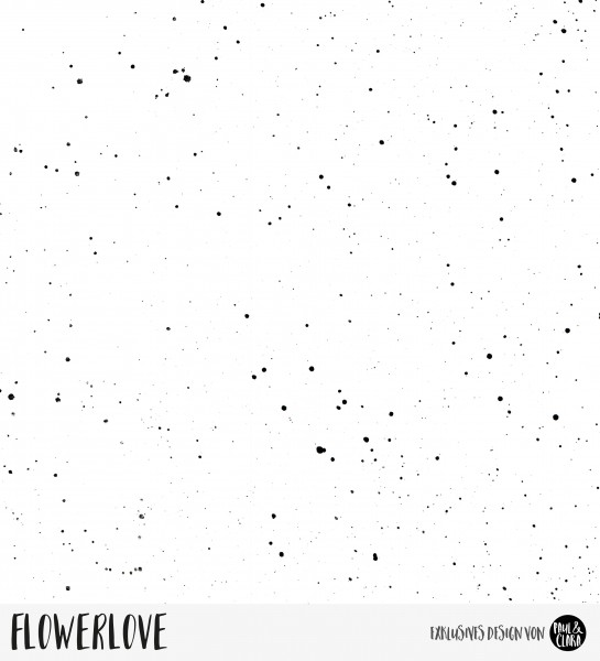 Flowerlove - Splash Weiß *Bio-Sommersweat*