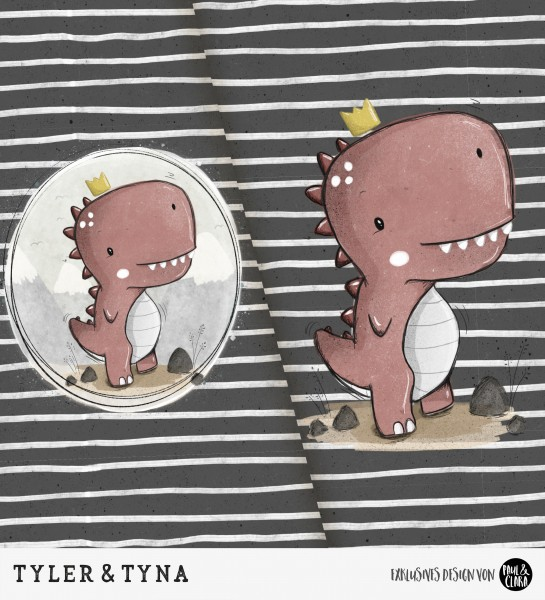 Tyler & Tyna - Panel Schwarz *Bio-Jersey*