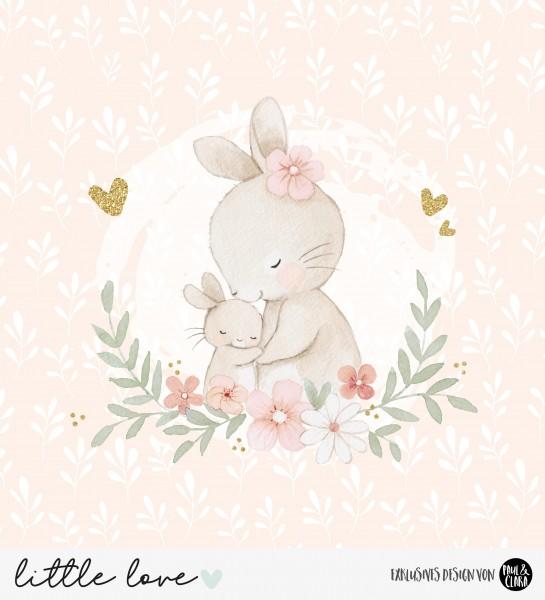 little love - Panel Hasenmama PEACH *Bio-Jersey*