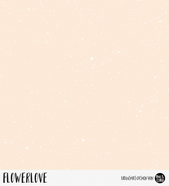 Flowerlove - Splash Peach *Bio-Jersey*