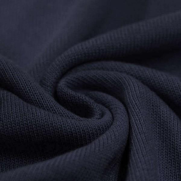 Feinstrick Strickstoff Baumwolle - Dunkelblau