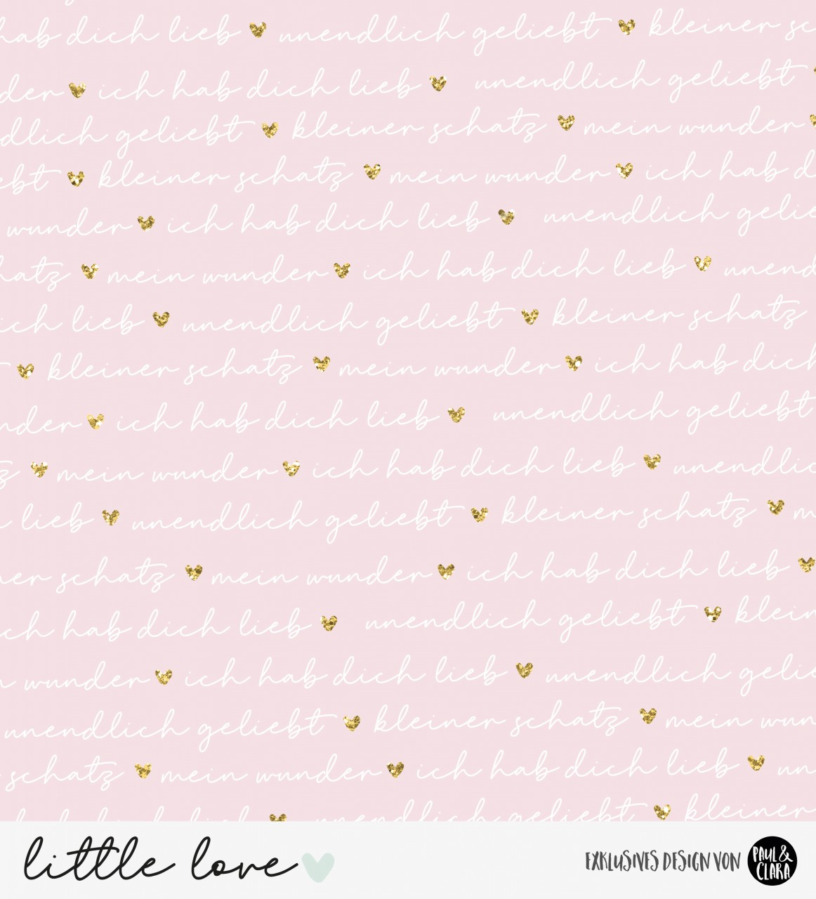 little love - lovely words Kombi ROSA *Bio-Jersey*