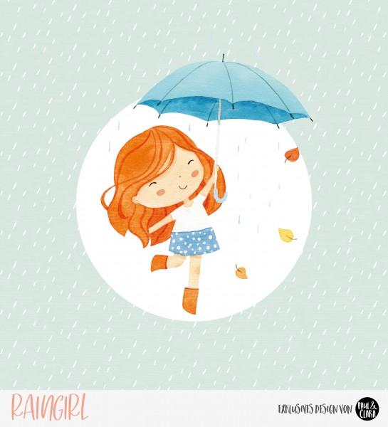 Eigenproduktion Raingirl - Panel Blau 60 cm *Sommersweat*