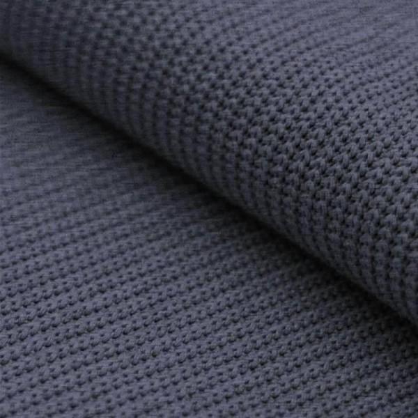 Grobstrick Strickstoff Baumwolle - Jeans Melange