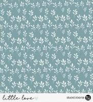 little love - little leaves Kombi PETROL *Bio-Jersey*
