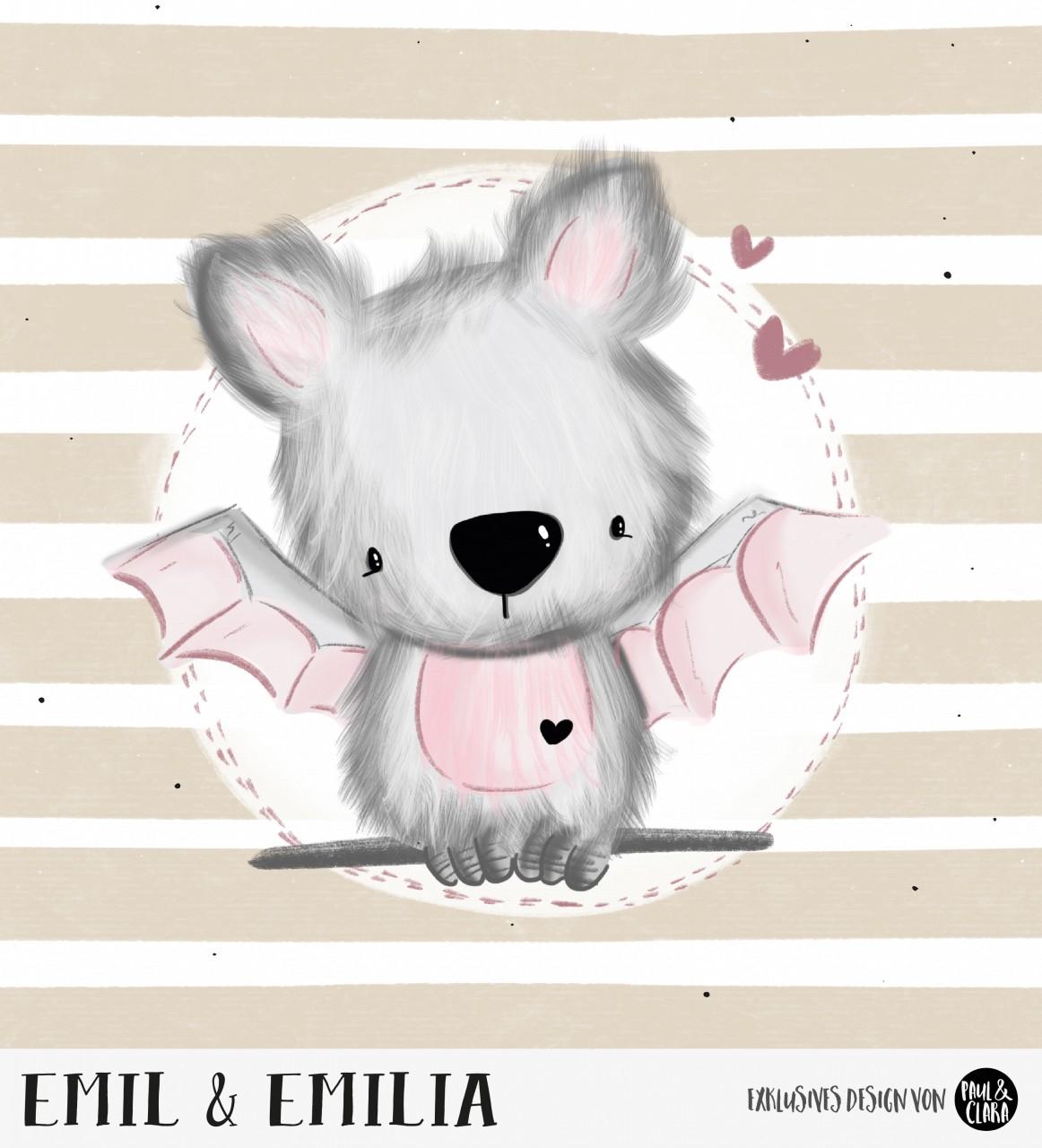 Emil & Emilia - Panel Beige 60 cm *Bio-Sommersweat*