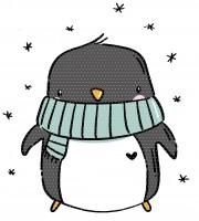 Applivorlage Winterpinguin