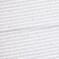 Jersey meliert - Hellgrau Streifen