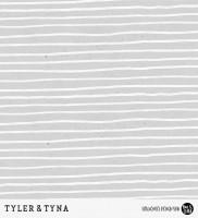 Tyler & Tyna - Streifen Silber *Bio-Sommersweat*