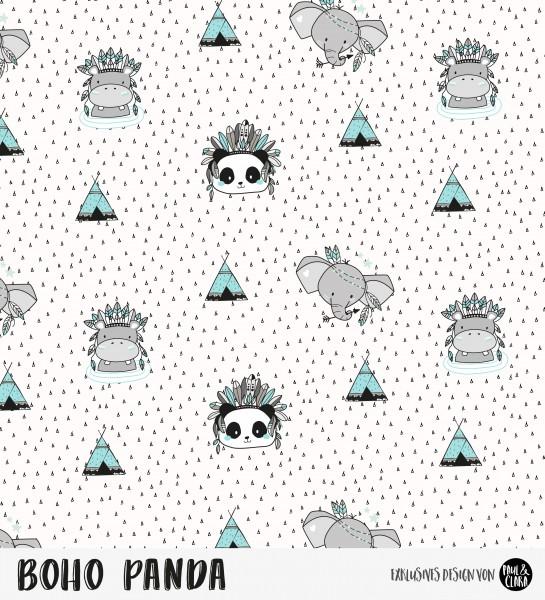 Eigenproduktion Boho Panda - Kombi Weiß *Sommersweat*