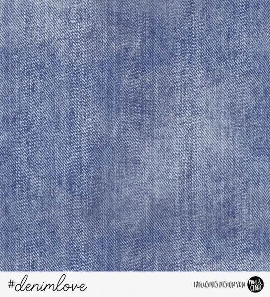 2 RESTSTÜCKE Gesamtlänge min. 120 cm-denimlove - Jeans Navy *Bio-Sommersweat*-