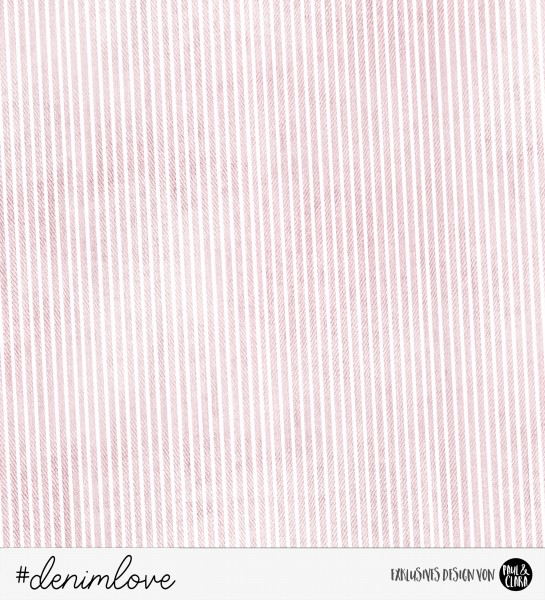 denimlove STRIPES - Rosa *Bio-Sommersweat*