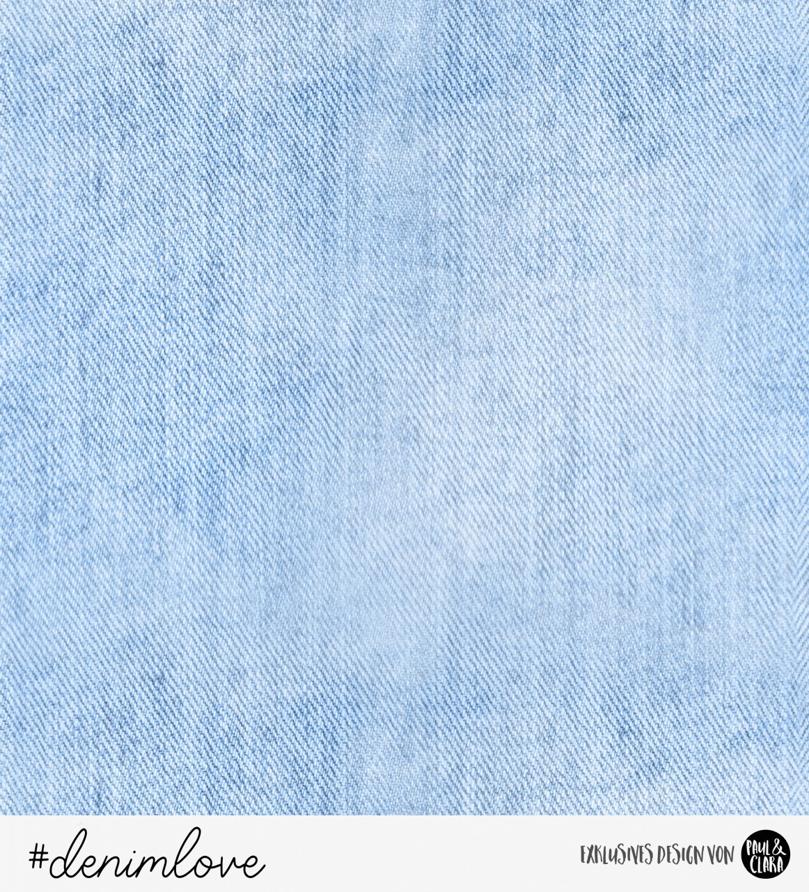 58 cm RESTSTÜCK-denimlove  - Hellblau *Bio-Sommersweat*