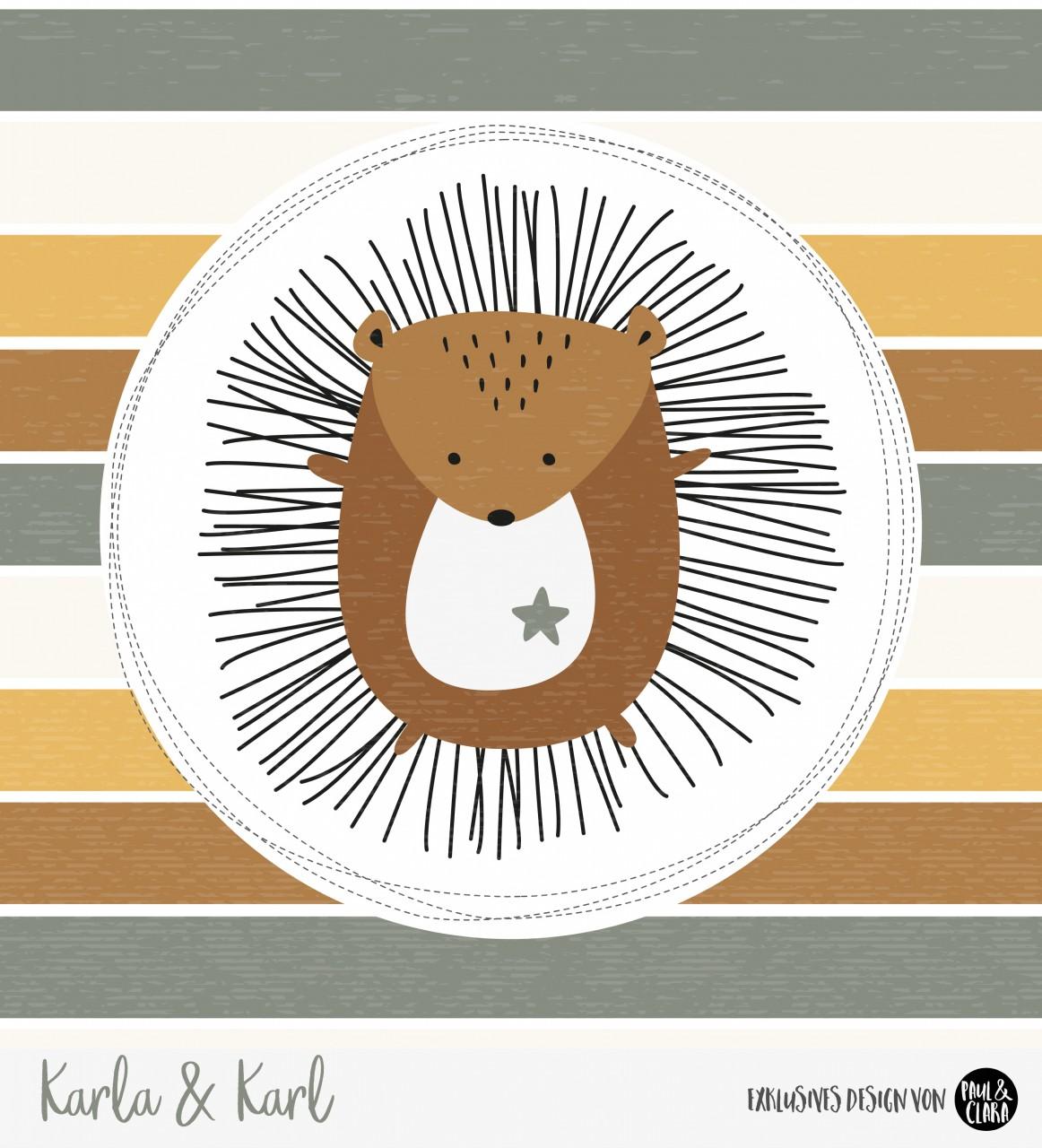 Eigenproduktion Karla & Karl - Panel Senf 60 cm *Sommersweat*