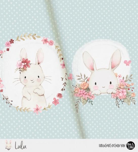 Lulu - Panel Flowers Mint *Bio-Jersey*