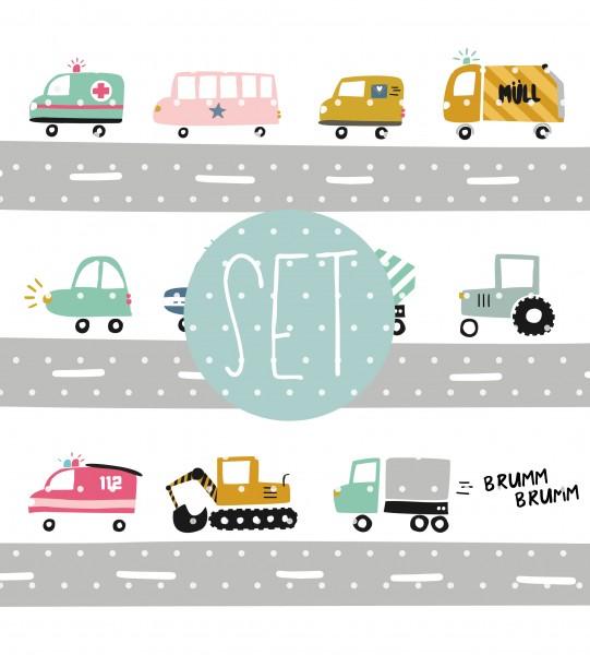 Plottervorlage Tut tut Autobahn SET