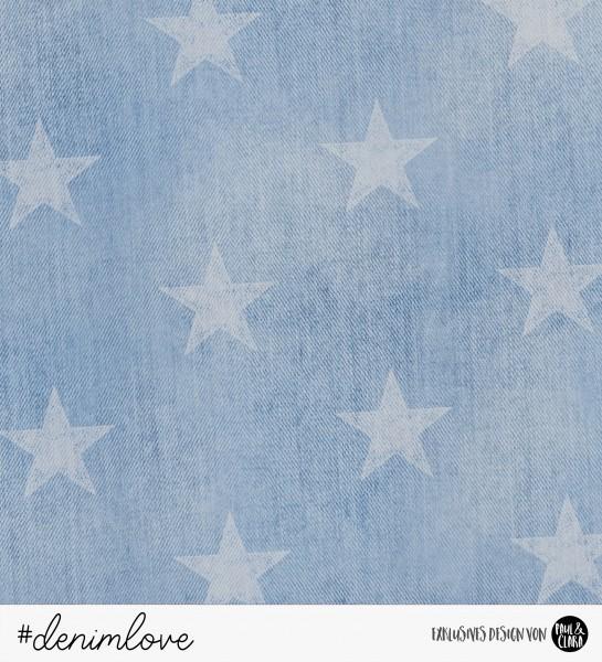 denimlove STARS - Jeans Hellblau *Bio-Sommersweat*