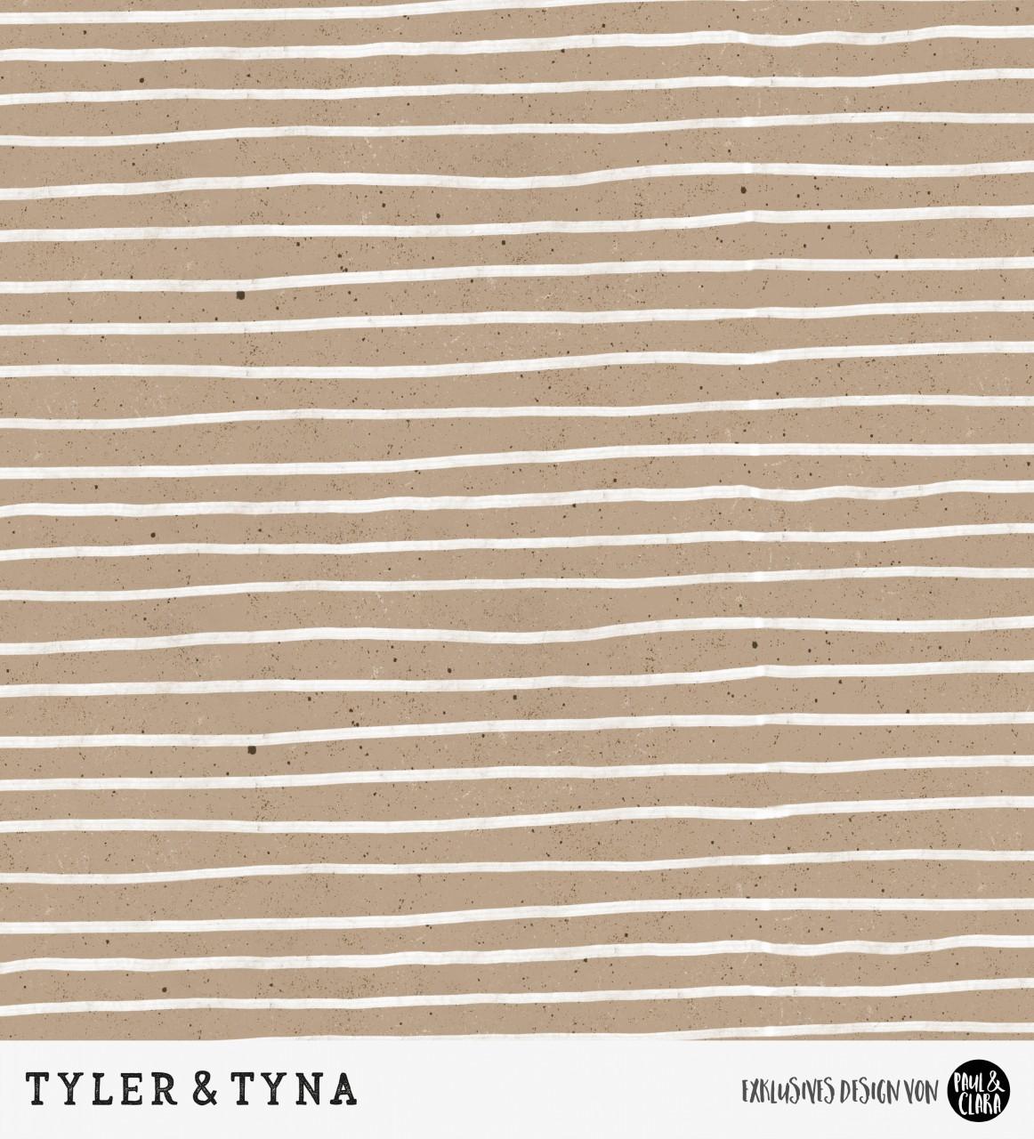 Tyler & Tyna - Streifen Braun *Bio-Sommersweat*
