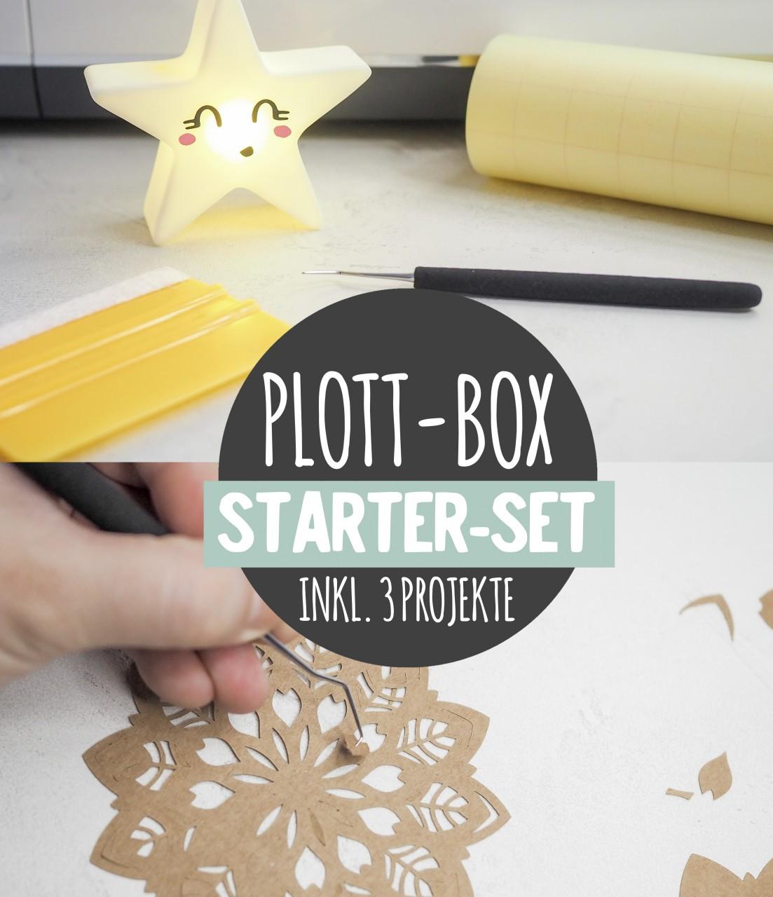 Deine Plottbox *Starter-Box* - Alles was du zum Start mit deinem Plotter brauchst!