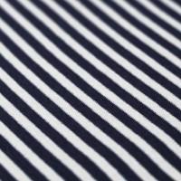Bündchen - Streifen Navy/Weiß *Schlauchware*