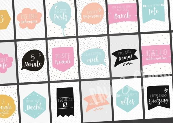 Printable Milestonecards 1. Jahr