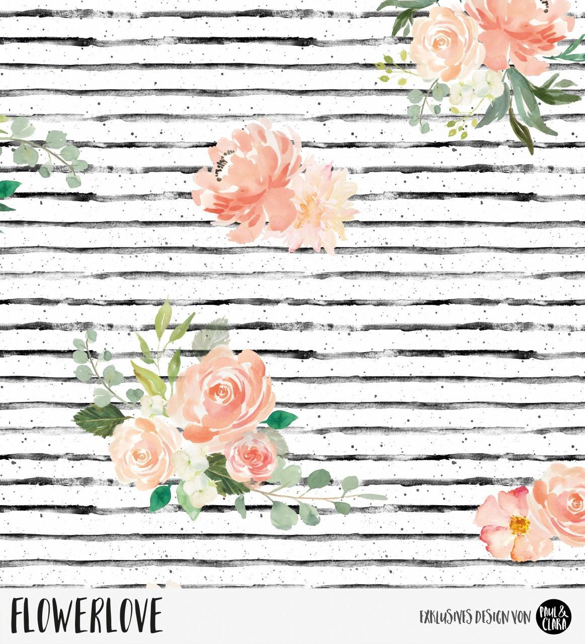 Flowerlove - Weiß *Bio-Jersey*
