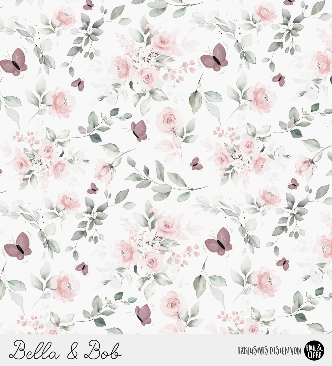 Bella & Bob - Kombi Blumen Weiß *Bio-Jersey*