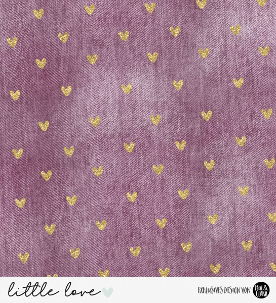 2 x 45 + 2 x 40 = 170 cm-Denimlove - Malve Glitter *Softshell*