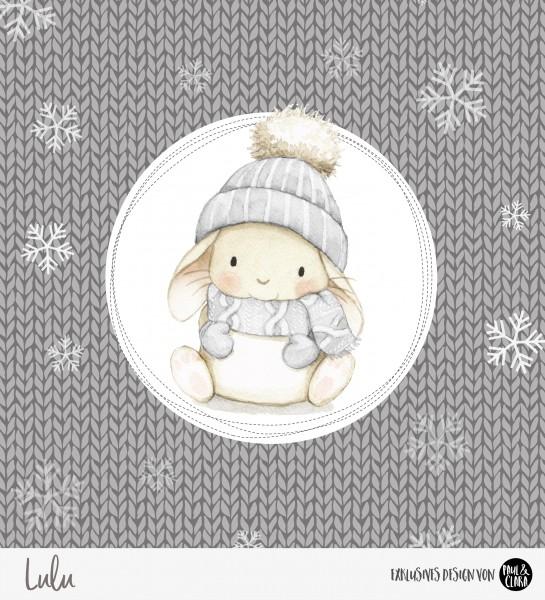 Lulu Winter - Panel Grau 60 cm *Bio-Sommersweat*