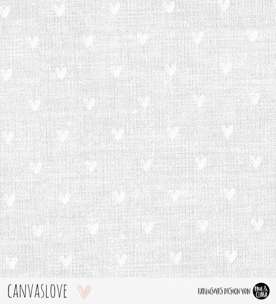 Canvaslove - Grau Herzen *Bio-Jersey*