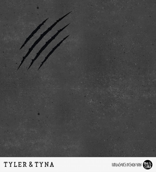 54 cm RESTSTÜCK-Tyler & Tyna - Grunge Kombi Schwarz *Bio-Jersey*-