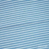 Jersey meliert - Rauchblau Steifen