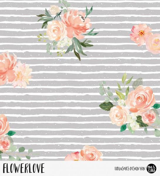 Flowerlove - Grau *Bio-Sommersweat*