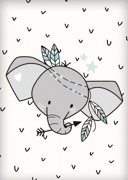 Postkarte *Boho Elefant* A6