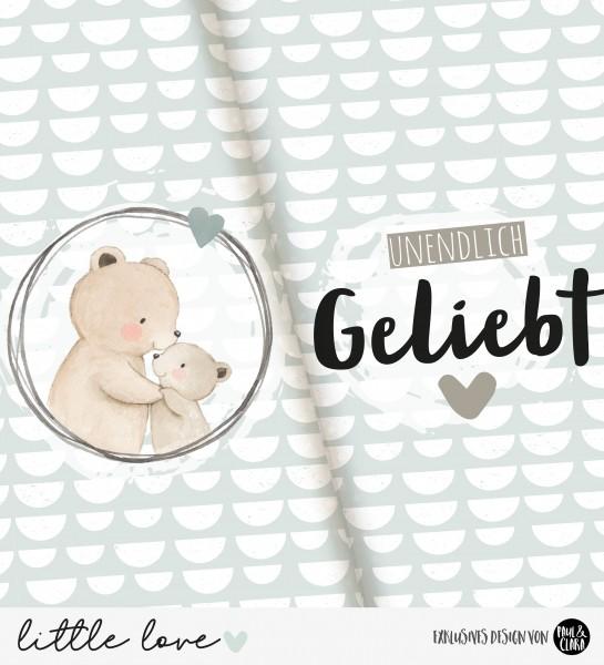 little love - Panel Bärenpapa HELLBLAU *Bio-Jersey*